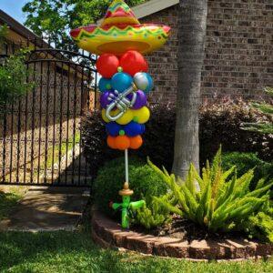 Fiesta Sombrero Balloon Yard Sign