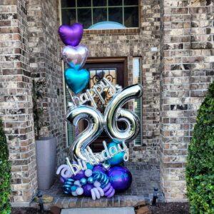 Floating Hearts Birthday Balloon