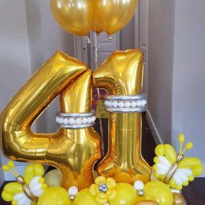 Golden Flower Birthday Bouquet