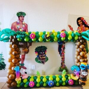 Hawaiian Theme Garland Frame
