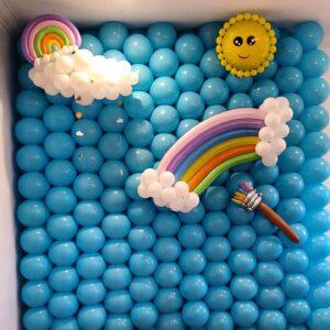 Paint A Rainbow Blue Wall