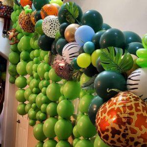 Safari Balloon Garland W/ Hanging Link Balloons
