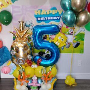 Spongebob Bouquet W 1 Foil Balloon