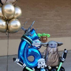 Yoda Birthday Bouquet W  1 Foil Number