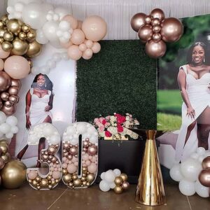 Balloon Garland with Balloon Marquee Numbers