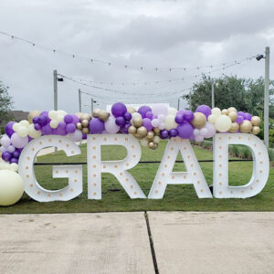 Balloon Garland with Marquee Letters