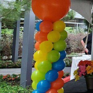 Balloon Tower W/Round Balloon Topper