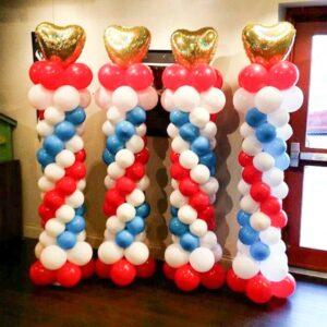 Grand Balloon Tower W/ Heart Topper