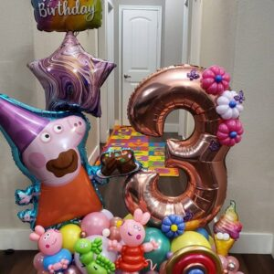 Peppa Pig Birthday Bouquet W/ 1 Foil Number Only