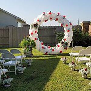 Round Balloon Garland with Structure