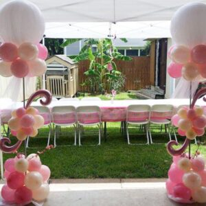 Tutu and Flowers Balloon Tower